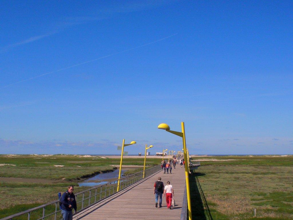 St. Peter-Ording Ferienwohnung Hund: Badbrücke