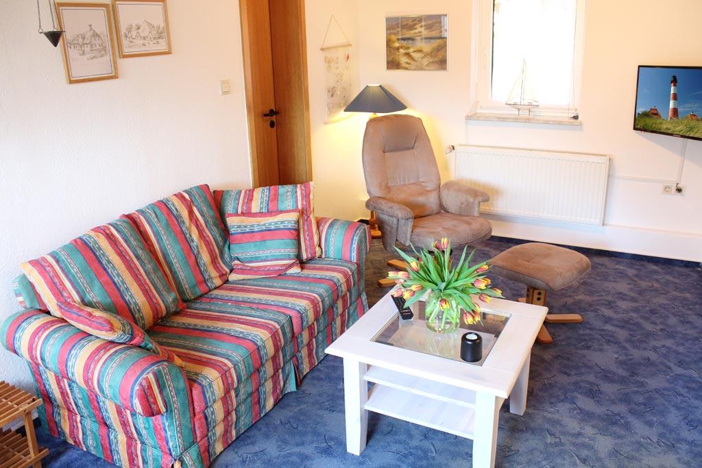 St. Peter-Ording Ferienwohnung privat Ufer: Wohnraum